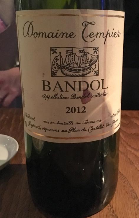 Bandol Domaine Tempier 2012